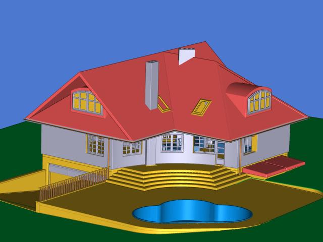 برنامج التصميم لمهندسي الميكانيك VariCAD 2011 1.10 House2