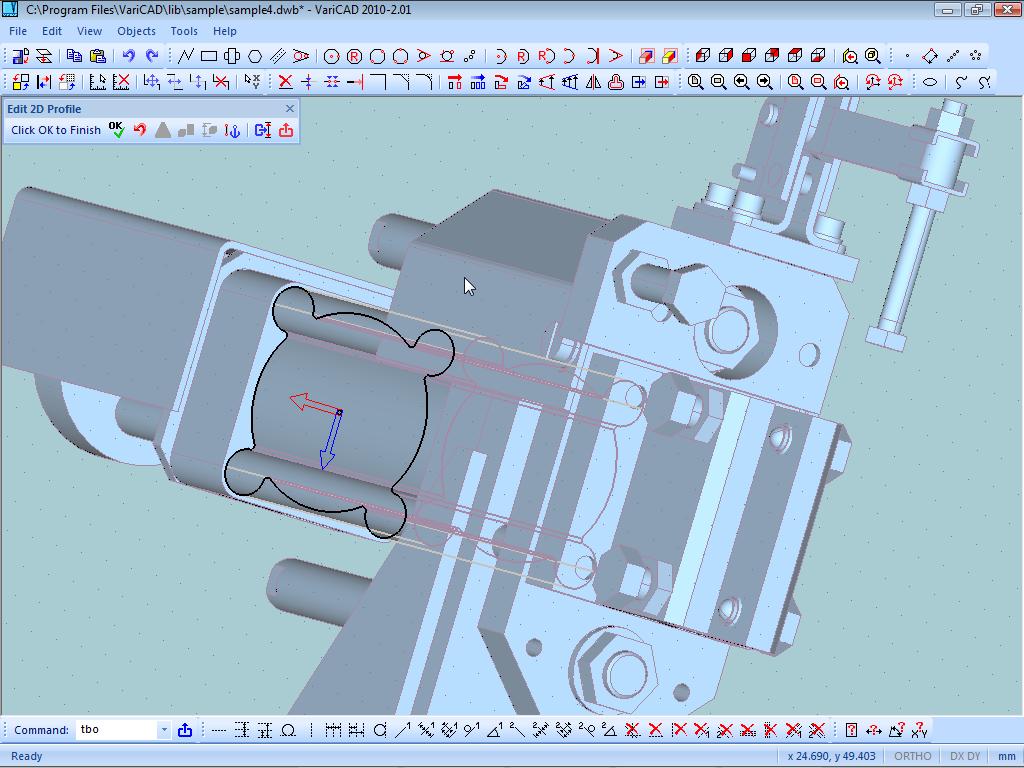برنامج التصميم لمهندسي الميكانيك VariCAD 2011 1.10 Screenshot2010_201B
