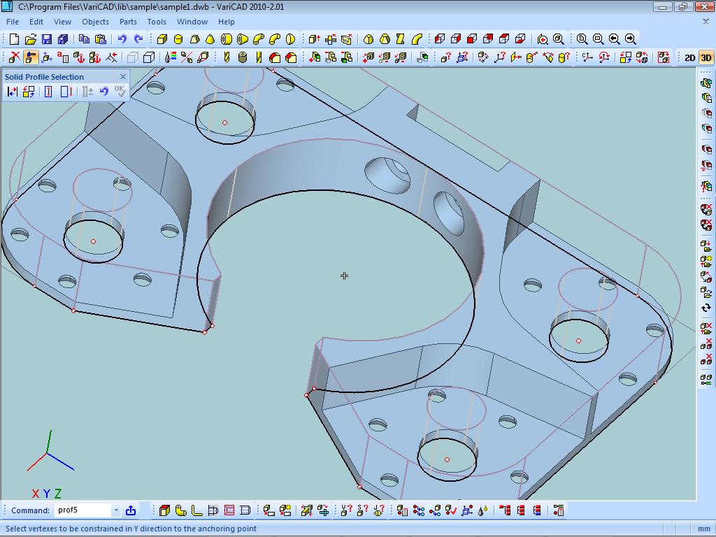 برنامج التصميم لمهندسي الميكانيك VariCAD 2011 1.10 Screenshot2010_201C